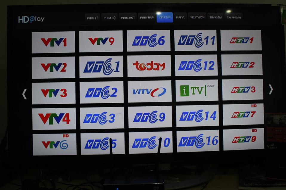 Xem truyền hình trên Vinabox X2