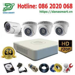 Trọn-bộ 4 camera Hikvision 1Mp