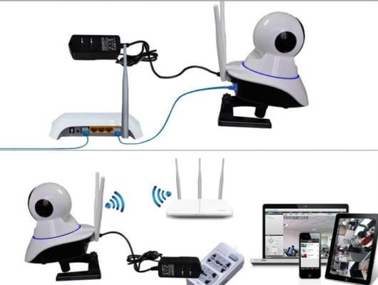Cắm nguồn và kết nối Wifi cho Camera Yoosee