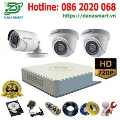 Trọn bộ 3 Camera Hikvision 1.0 Mp