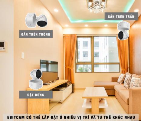 Lắp đặt camera Ebitcam dễ dàng