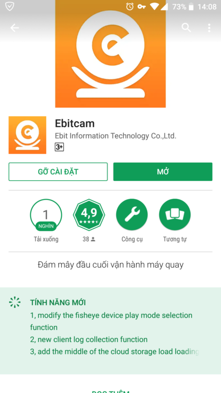 Tải về và cài đặt ứng dụng Ebitcam