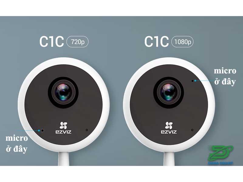 Micro cho phép đàm thoại trên Camera EZVIZ C1C